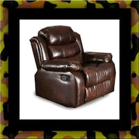 Burgundy recliner chair Bowie, 20720
