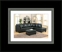 Black sectional with ottoman Rockville, 20847