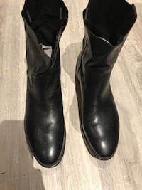 MENS Aldo's Mr B's Little Dave Men's size 45 leather black dress boot Oshawa, L1J 5S1