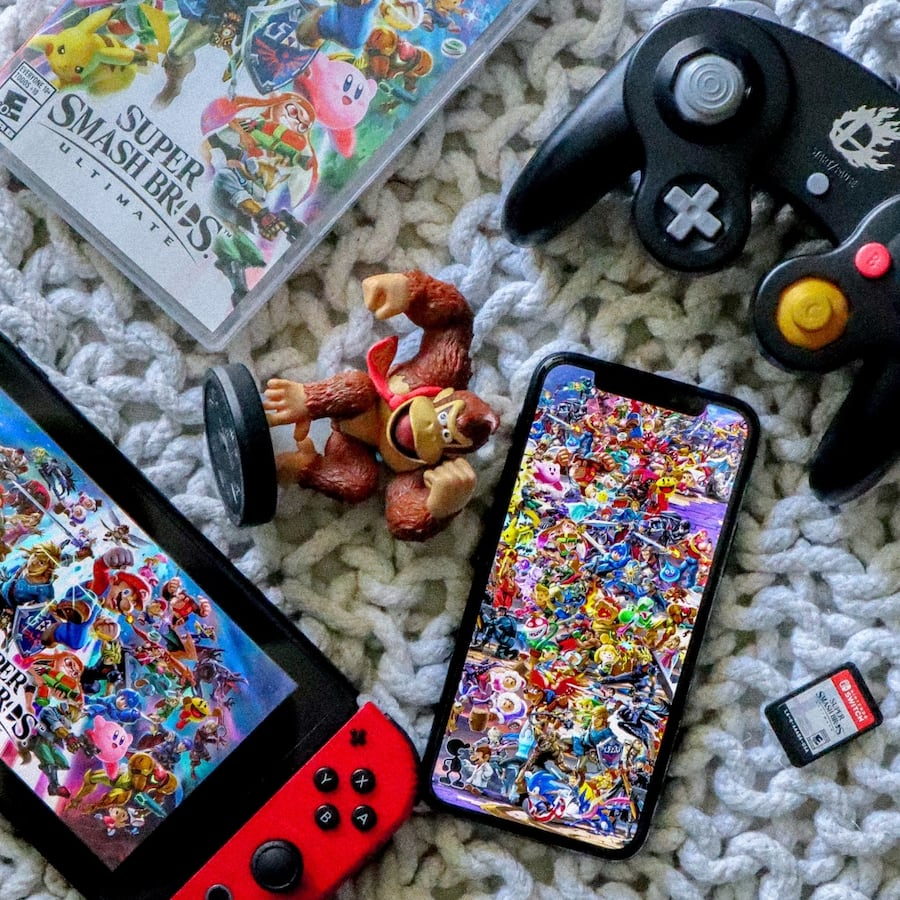 Used Nintendo Super Smash Brothers Ultimate Wallpaper For Sale In