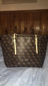 black and brown Louis Vuitton leather tote bag Central Okanagan