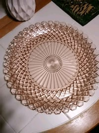 round brown and white ceramic plate Mountville, 17554
