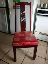 6 wooden Chinese style chairs Sacramento, 95820