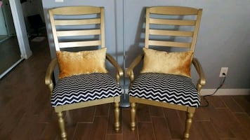 Beautiful gold chairs