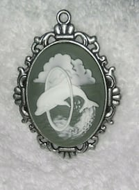 White Carved Dolphin Cameo Albany, 97322