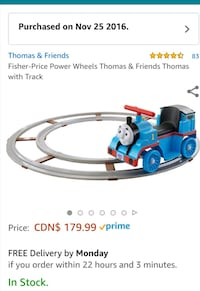 Fisher price powered wheels thomas with track