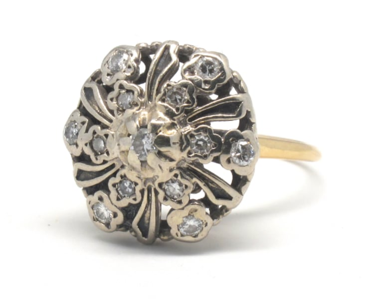 Ladies 14K Antique Cocktail Ring 51171740-2942-4596-974e-273292028c43