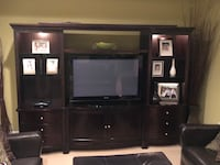 5 piece stunning looking entertainment centre. 66 inch opening for tv . Lighting above, ample storage in each side compartment along with space under main console Edmonton, T6G 2G5