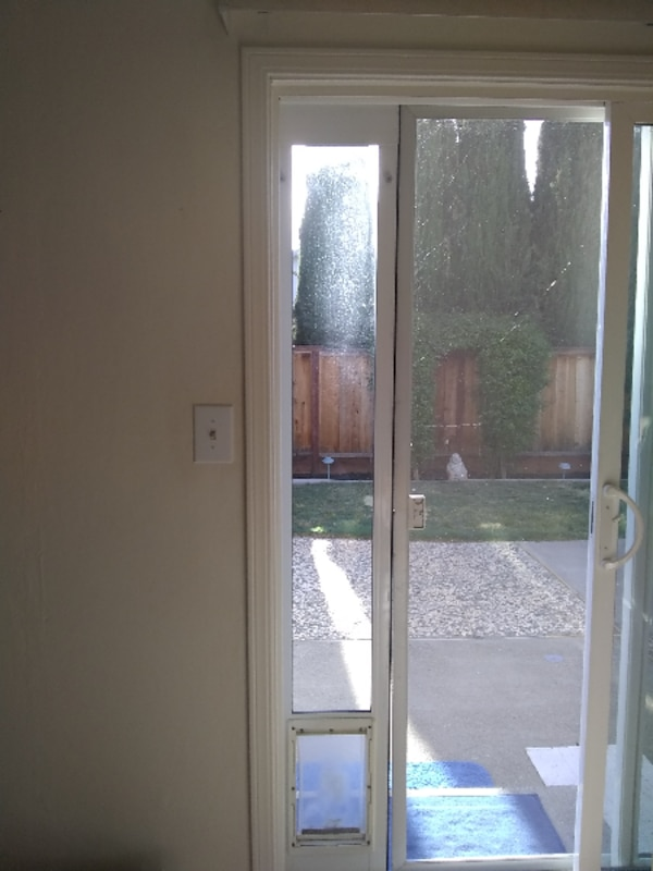 Used Doggie Door Sliding Door Insert For Sale In Santaclara Letgo