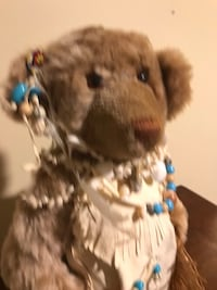 Indian dressed collectible bear Chantilly, 20152