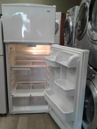 white top-mount refrigerator null