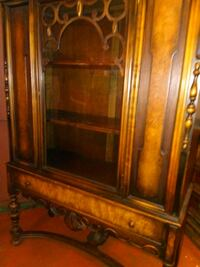 brown wooden framed glass display cabinet Vancouver, 98664