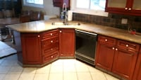 brown wooden kitchen cupboard and cabinet Markham, L3P
