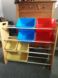 yellow, red, and blue plastic toy organizer Kitchener, N2N 1Z1