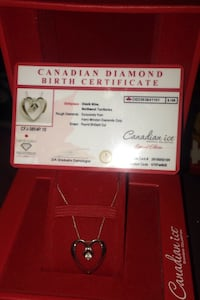 Canadian ice special addition necklace with certificate card