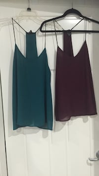 Medium/ small chiffon tanks $10 each or both for $15 Surrey, V4N 3W2
