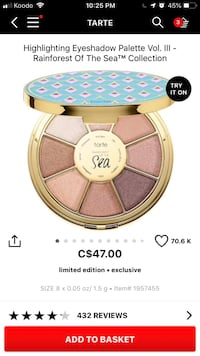 TARTE - eyeshadow  Pickering, L1V 0C9