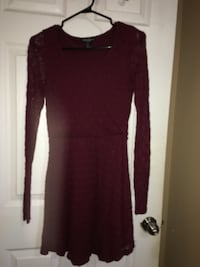 Short lace burgundy dress  Edmonton