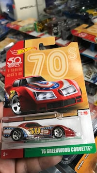 1976 red Greenwood Corvette coupe scale model pack Whittier, 90602