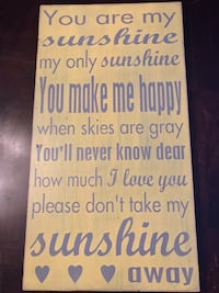 Rustic Sign - you are my sunshine Bethel Park, 15102