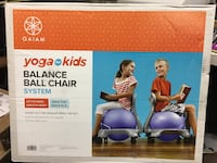 Gaian New in Box- Yoga for Kids Balance Ball chair system. Great for kids 5-8