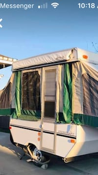 white and green pop-up camper Beaumont, T4X 1L4