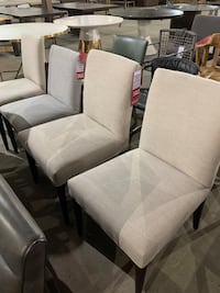 One Brand new light taupe linen Parsons chair Toronto, M4C 1N6