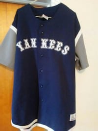 blue and white New York Yankees jersey shirt Cohoes, 12047