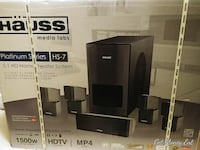black Hauss 5.1 multimedia speaker box