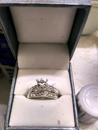 silver diamond accent ring 8 in box Fort Smith, 72903