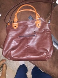 brown leather 2-way bag Elkton, 22827