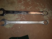 two stainless-steel open wrenches