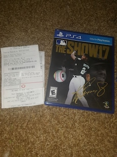 MLB The Show 17 with 1 year warranty.