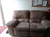 brown suede 2-seat recliner sofa Brandywine, 20613