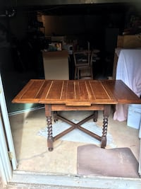 Antique dark oak farm table Vienna, 22182