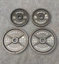 SPORTS AUTHORITY 45 LB. & 25 LB. PLATES Deerfield Beach, 33442
