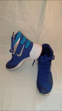 Pair of blue-and-white nike basketball shoes Winchester, 22601