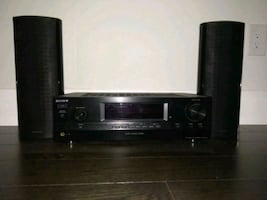 Sony amplifier and Onkyo speakers