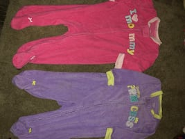 Adorable baby girl footed pajamas size 3-6 mnths