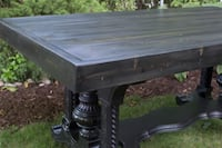Free delivery - Rustic industrial / farmhouse dining table Mississauga