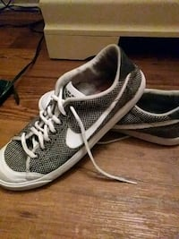 pair of gray-and-white Nike running shoes Balcones Heights, 78201