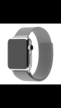 Apple Watch gen 1. With rugged case/band and never used Milanese band. Charging stand included Reston, 20191