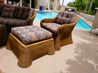 brown and white floral sofa chair Palm Desert, 92260
