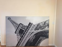 black and white Eiffel tower print textile Cupertino, 95014