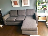 Blueish/grey sectional couch. Victoria, V8W