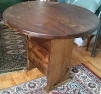 round brown wooden pedestal table Inwood, 25428
