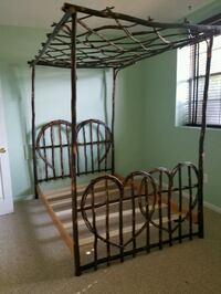 Bent Hickory Amish Made Canopy Bed Rockville, 20850