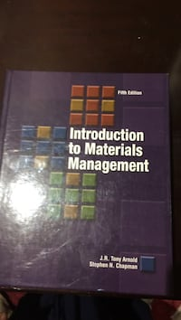 Materials Management  fifth edition text book. Mint condition  Vaughan, L6A 3E7