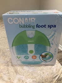White and green Conair bubbling foot spa box brand new Markham, L6C 2H2