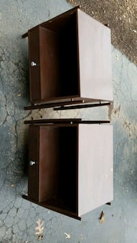 2 hard wood painted art deco end tables with glass Annandale, 22003